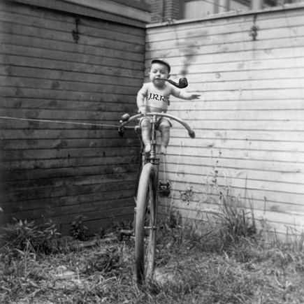 Riding the unicycle